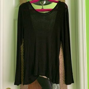Light black sweater with cross back. Size L
